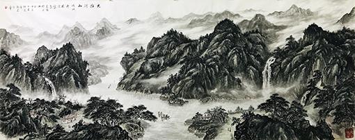 马志强作品3《大好河山》380X140cm.jpg