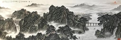 马志强作品4《一带一路迎曙光》450X140cm.jpg