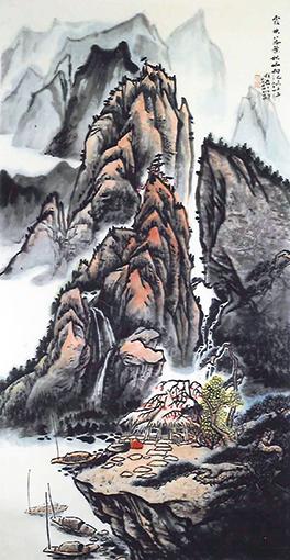 《霞映落葉秋山響》137x68cm.jpg