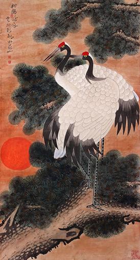 《松鹤延年》58cmx107cm.JPG