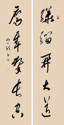 胡幼龙作品 《骅骝鹰隼联》.jpg