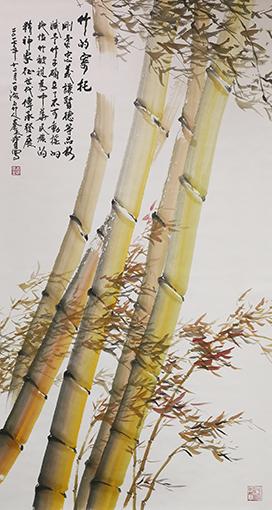 《竹的寄托》规格:196cmx98cm.jpg