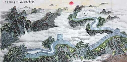 刘世全作品《中华雄风》规格:96cmx180cm.jpg