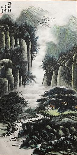 刘世全作品《踏征程》规格:138cmx69cm.jpg