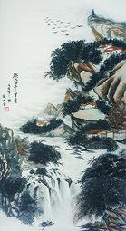 刘世全作品《欲穷千里目》规格:138cmx69cm.JPG