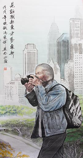 7冯家祥作品 《见证潮起东方万象新》规格:138cmX68cm.jpg