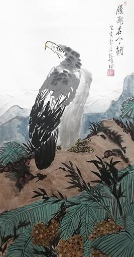 张焯作品 《腾飞在今朝》1 规格:138cm×69cm.jpg