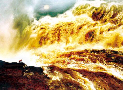慈向群油画作品 《日月黄河》 规格:150cmX110cm.jpg