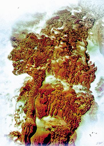慈向群油画作品 《云崖天雕》 规格:150cmX110cm.jpg