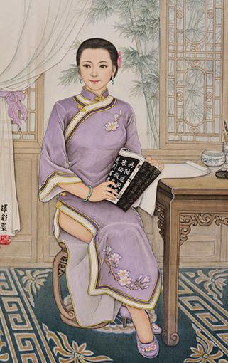 肖耀彩作品5《潇湘才女》98X63cm 2005年.JPG