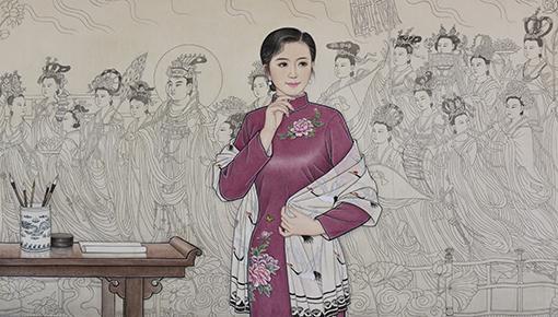 肖耀彩作品10《神仙图前的遐想》160X90cm  2017年.JPG