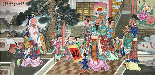 马志强作品10《成田界画: 三星拱照》.jpg