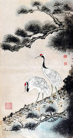 赵珂作品 《苍松自古思高健,寿鹤于今添仙杰》.jpg