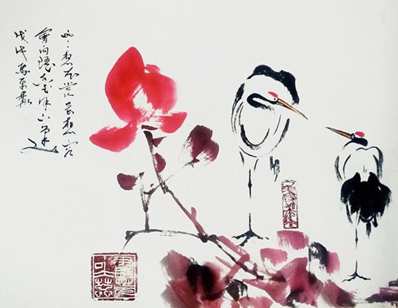 马平赫作品3《云想衣裳花想容会向瑶台月下逢》戊戌 马平赫.jpg