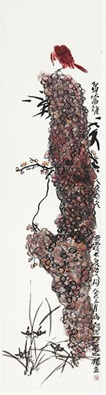 苏凤智作品《风光不与古人同》规格:138cm×34cm.jpg