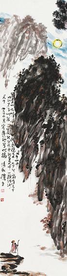 苏凤智作品《月下秋山》规格:138cmx34cm.jpg