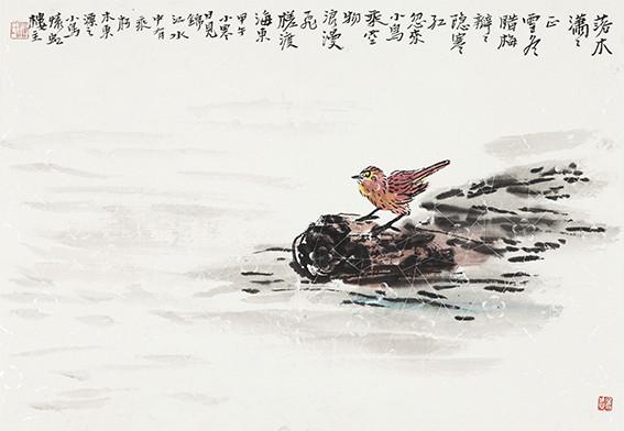 苏凤智作品《富二代东渡长江》规格:138cm×69cm.jpg