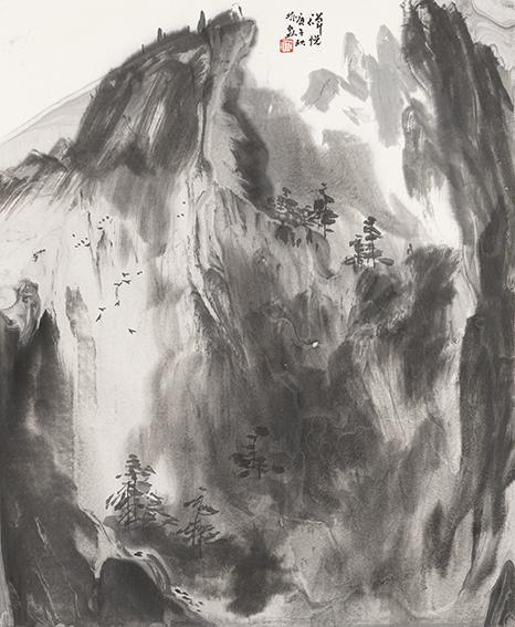 仇振霖作品 《禅悦》规格:42cm×53cm.jpg